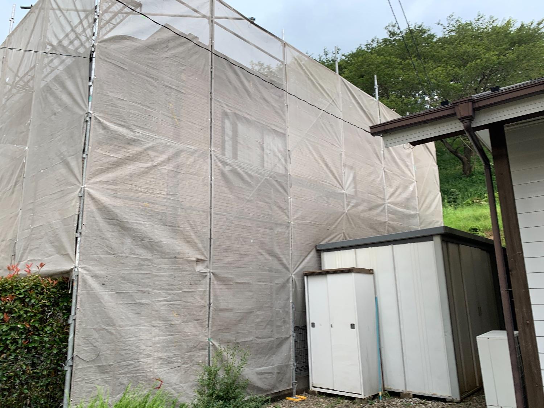 八王子市越野にて仮設工事