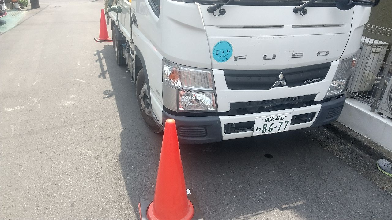 緑区長津田にて仮設工事
