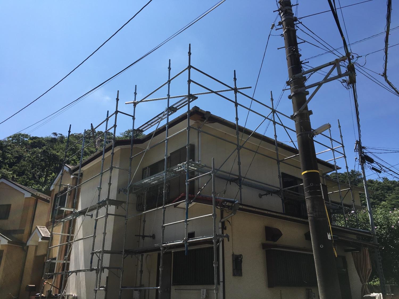 横須賀市田浦町にて仮設工事