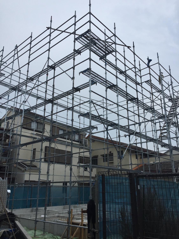 鎌倉市長谷にて仮設工事