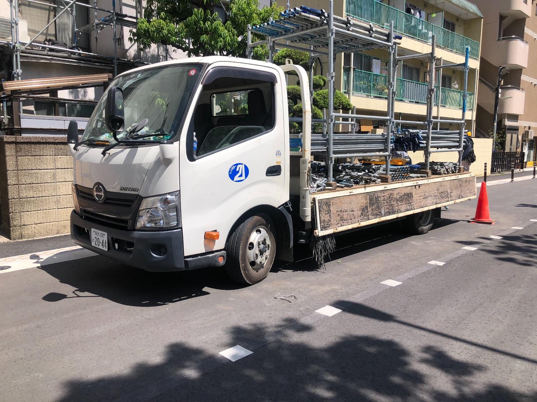 品川区小山にて仮設工事