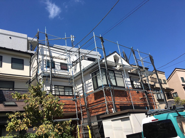港北区樽町にて仮設工事