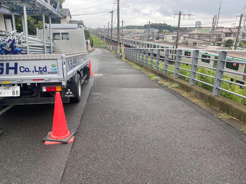 町田にて仮設工事