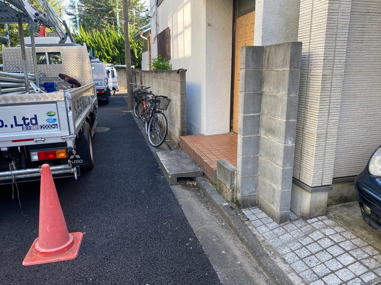 杉並区和田にて仮設工事