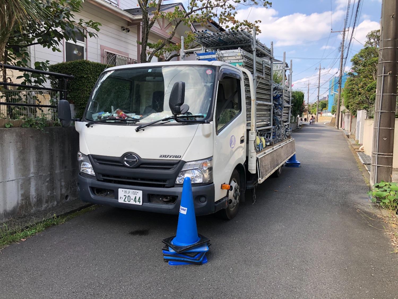 八王子市南陽台にて仮設工事