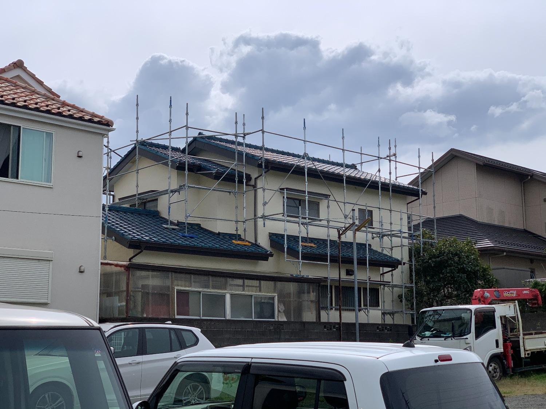 藤沢市石川にて仮設工事