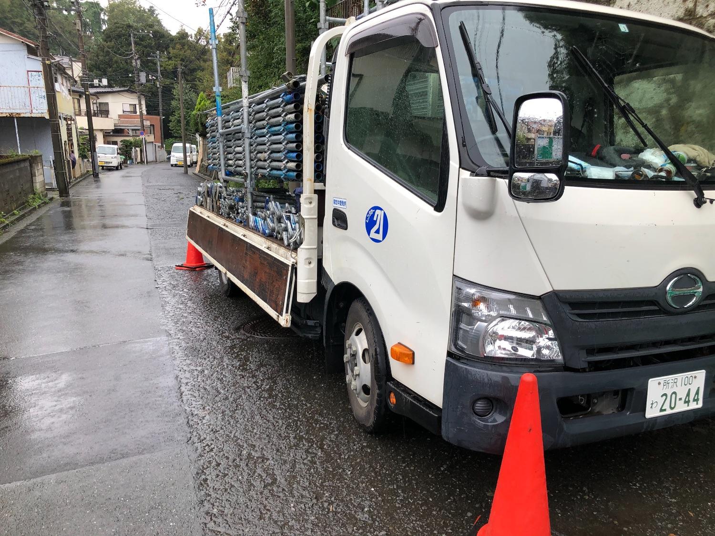 鶴見区下末吉にて仮設工事