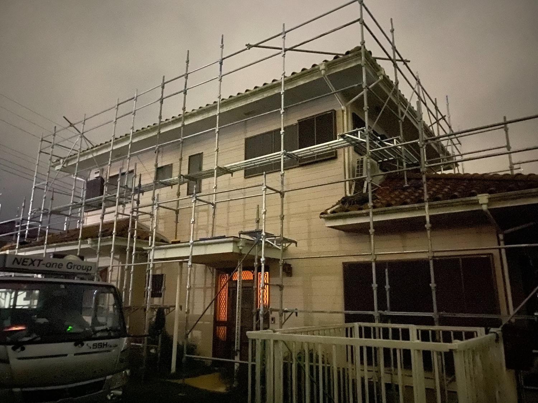 市原市喜多にて仮設工事