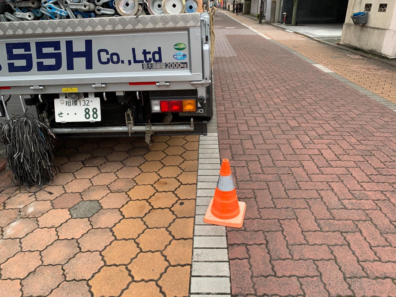 大田区大森北にて仮設工事