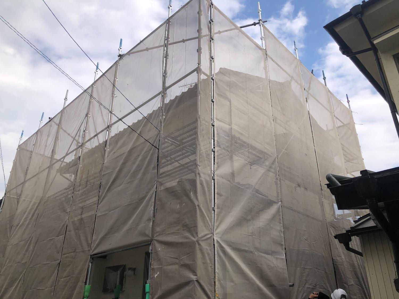 神奈川区斉藤分町にて仮設工事