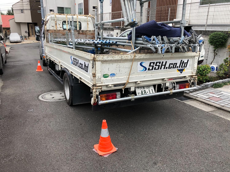西区浅間台にて仮設工事