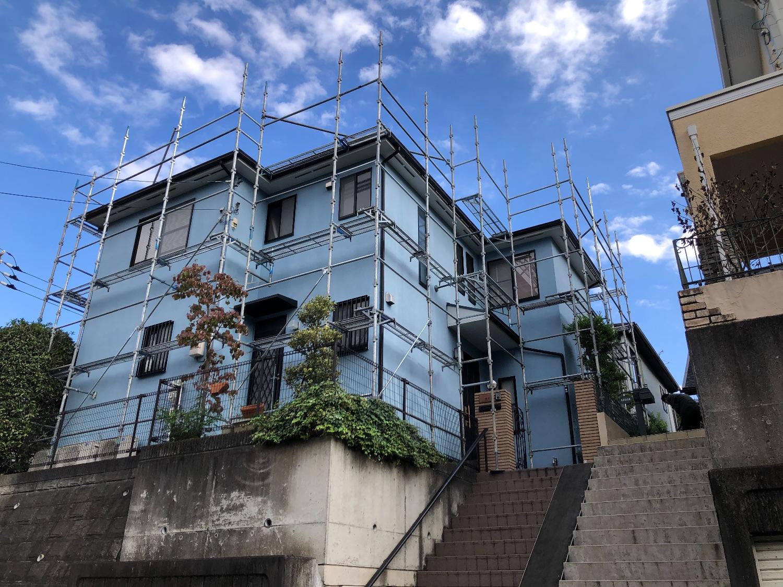 町田市金井にて仮設工事