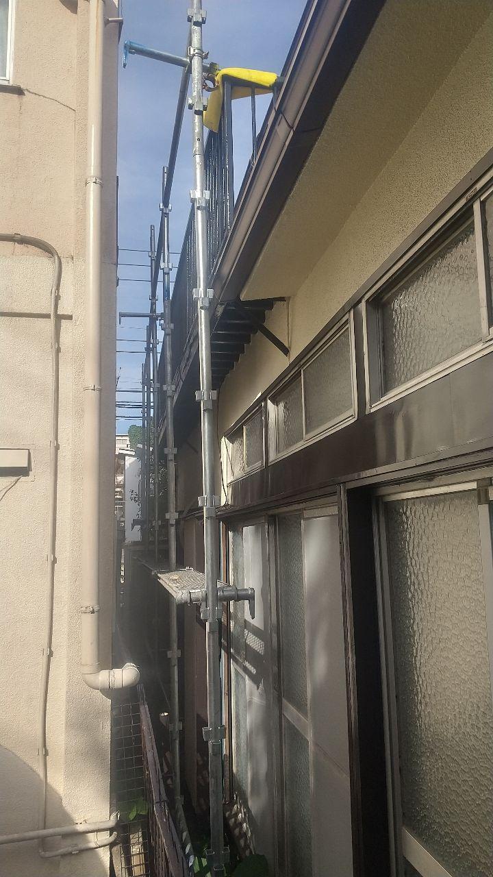 新宿区上落合にて仮設工事