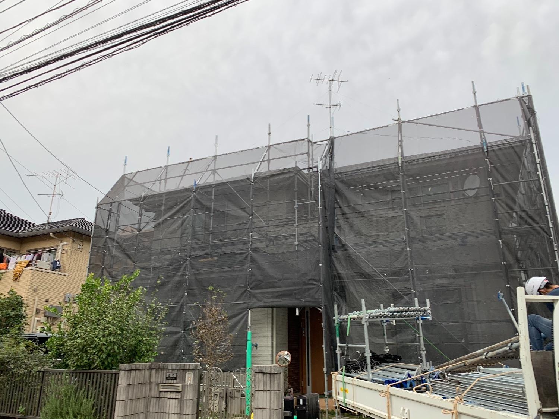千葉県白井市根にて仮設工事