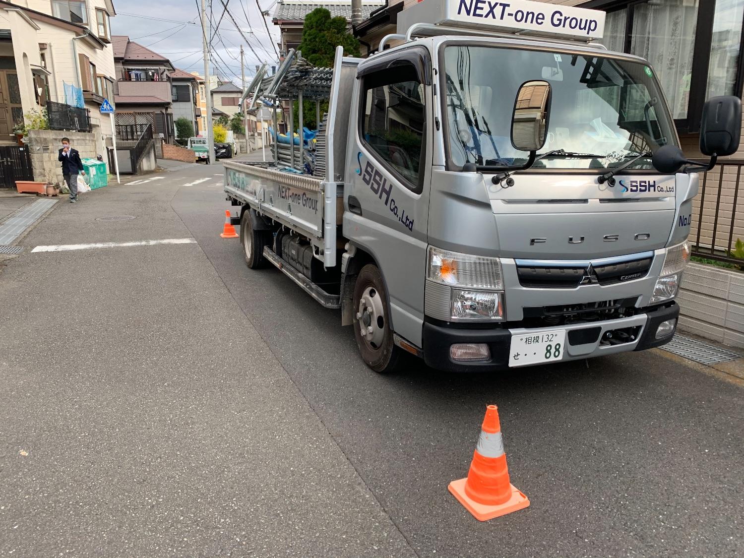 戸塚区深谷町にて仮設工事