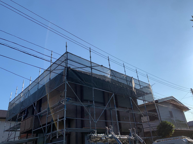 袖ケ浦市神納にて仮設工事