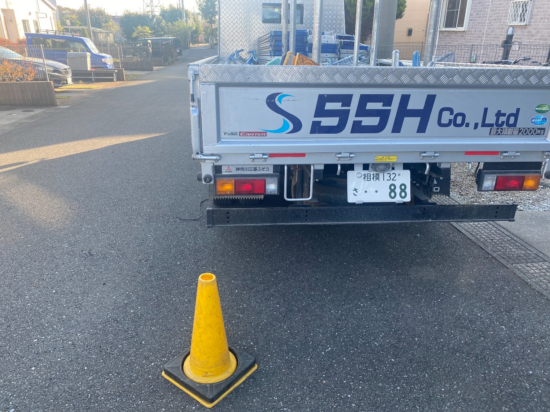 船橋市旭町にて仮設工事