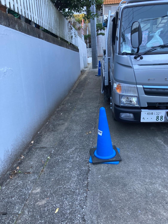 多摩区西生田にて仮設工事