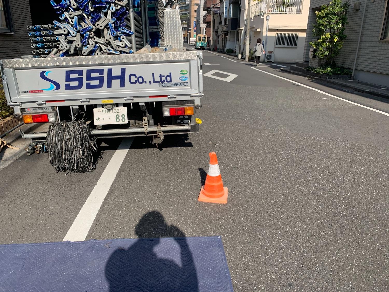 墨田区業平にて仮設工事