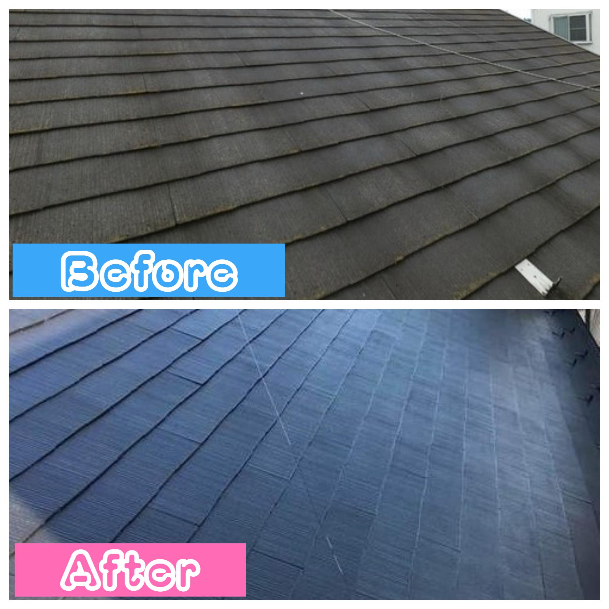 屋根:スレート屋根塗装工事・縁切り🏡✨