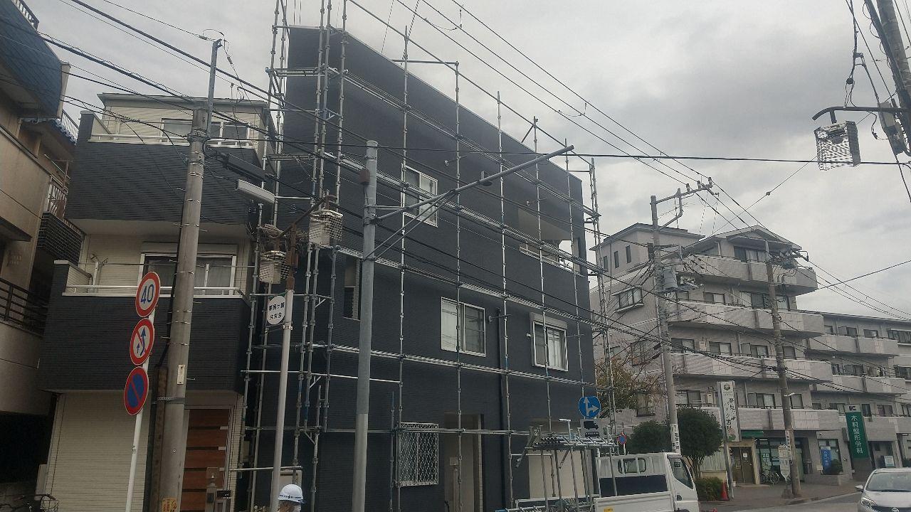 幸区南加瀬にて仮設工事