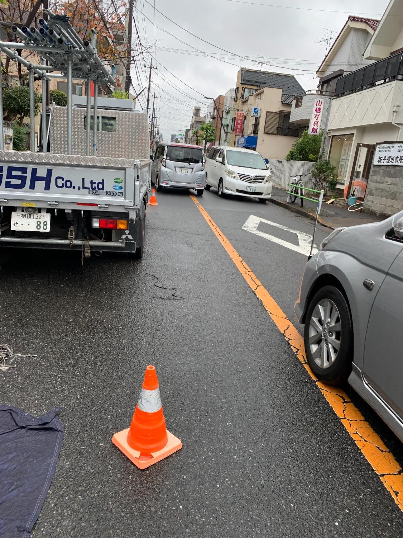 葛飾区西亀有にて仮設工事