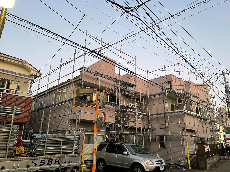府中市住吉町にて仮設工事