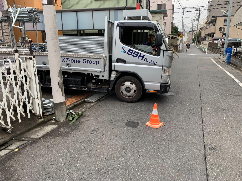 大田区南馬込にて仮設工事