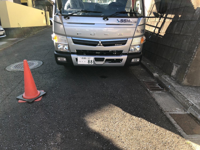 横須賀市鴨居にて仮設工事