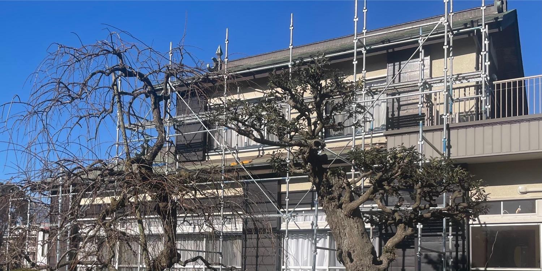 寒川町小動にて仮設工事