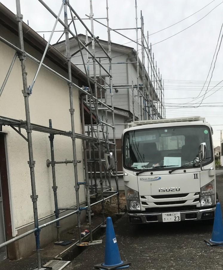 館山市正木にて仮設工事