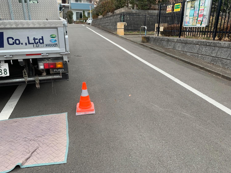 町田市能ヶ谷にて仮設工事