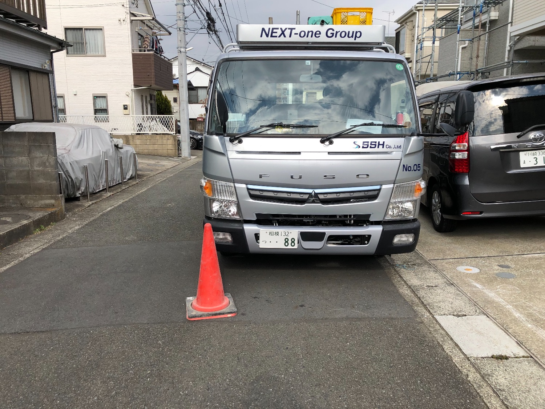 川崎市宮前区東有馬にて仮設工事