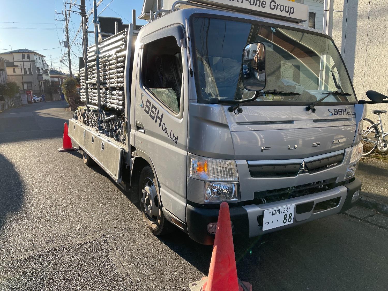 伊勢原市桜台にて仮設工事