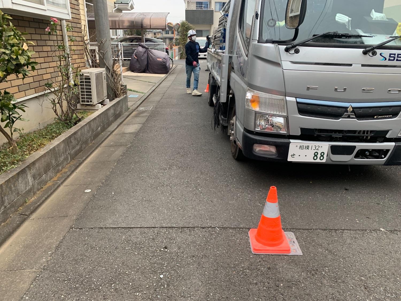 藤沢市辻堂太平台にて仮設工事