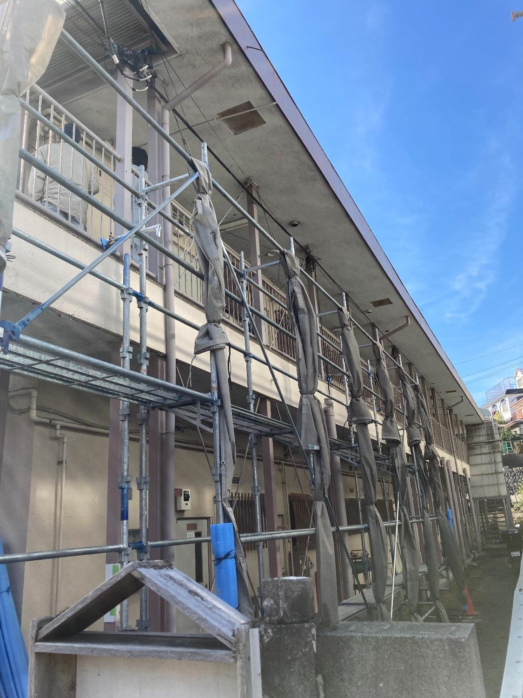 神奈川県横浜市旭区二俣川にて仮設工事