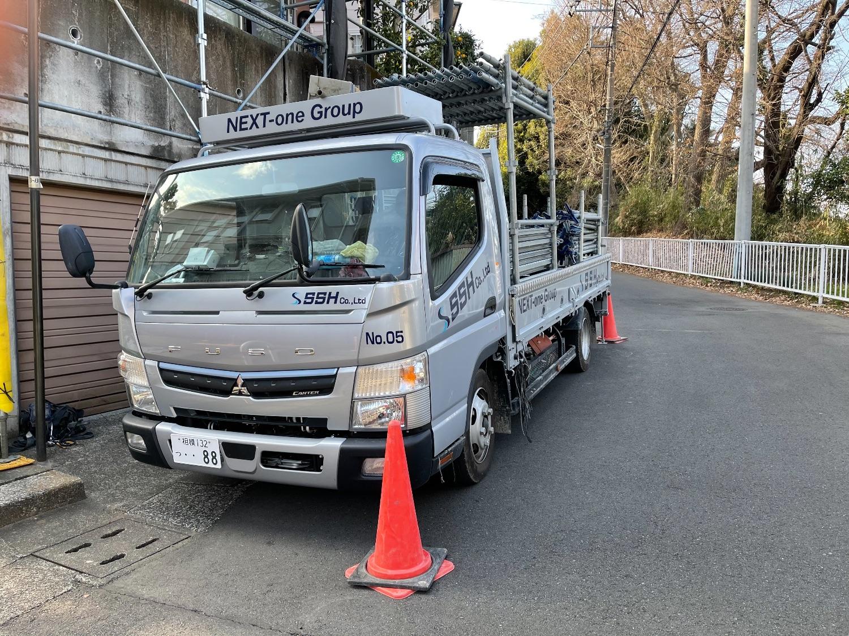 神奈川県川崎市麻生区高石にて仮設工事