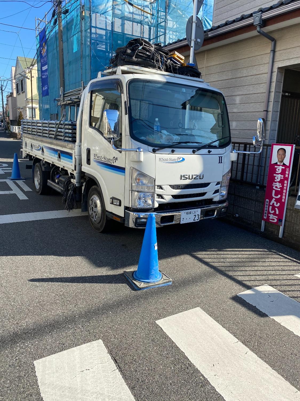 船橋市夏見にて仮設工事