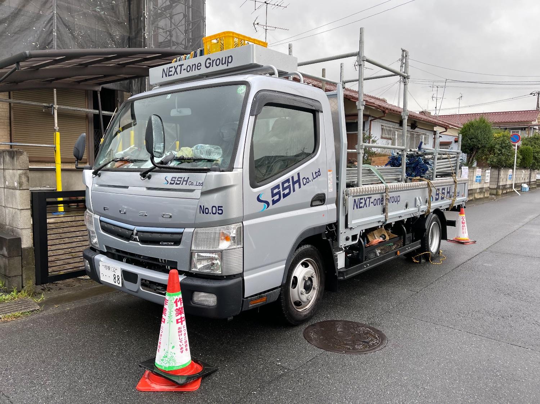 市川市伊勢宿にて仮設工事