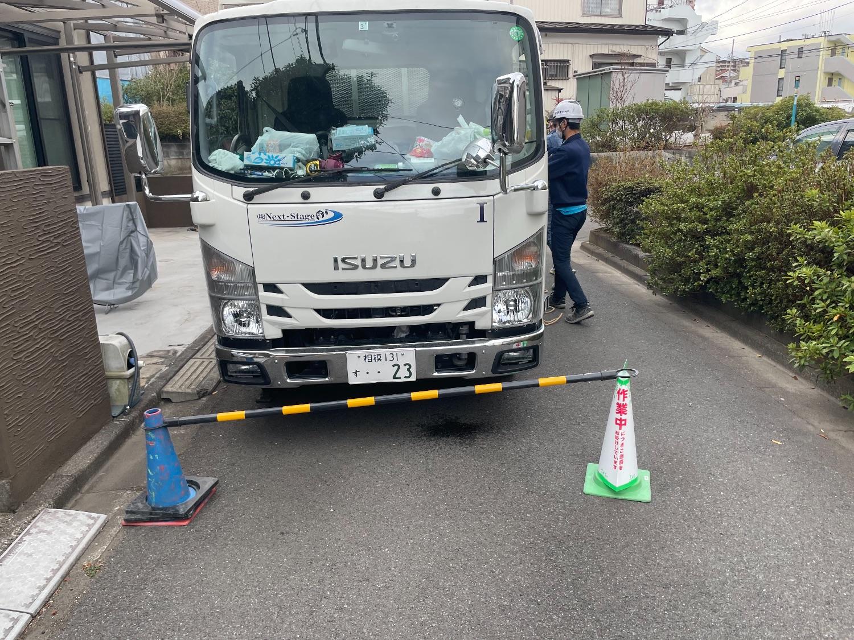 相模原市緑区橋本にて仮設工事