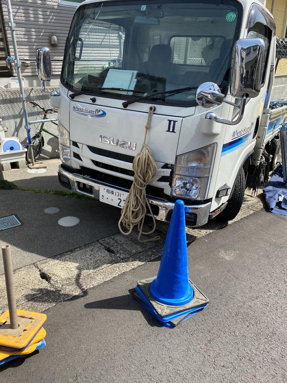 大和市福田にて仮設工事