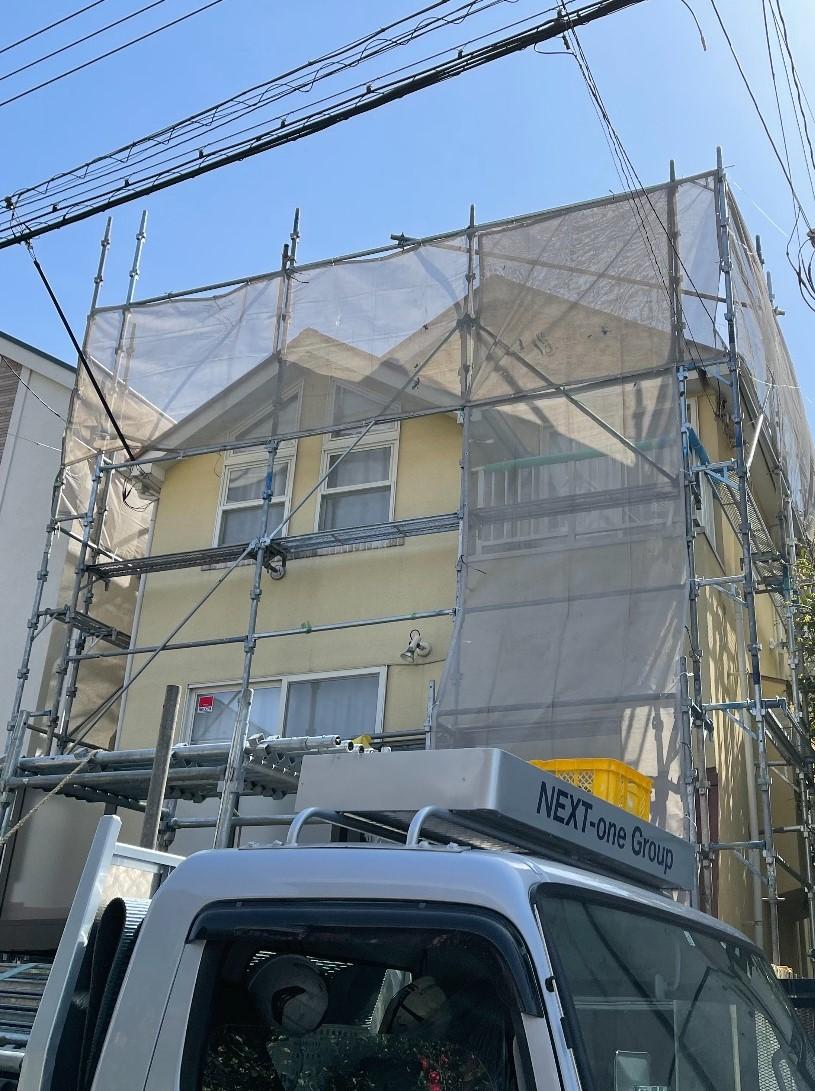 世田谷区新町にて仮設工事