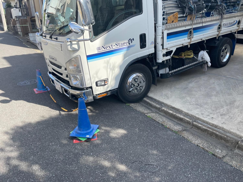 船橋市新高根にて仮設工事