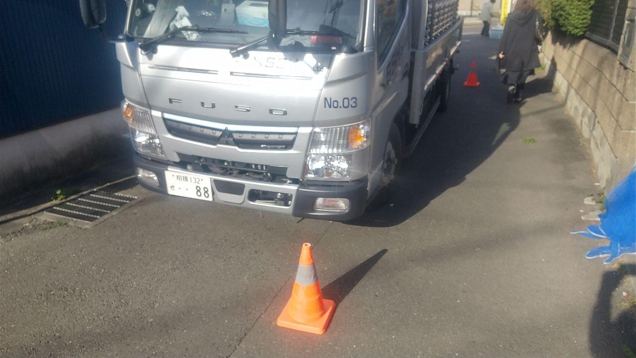 町田市小川にて仮設工事
