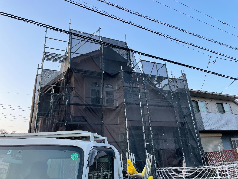 青葉区にて仮設工事