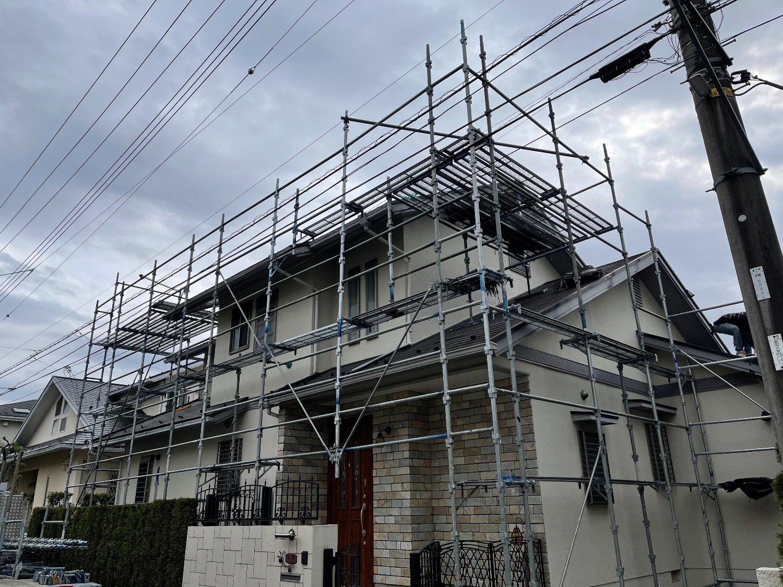 横浜市青葉区にて仮設工事