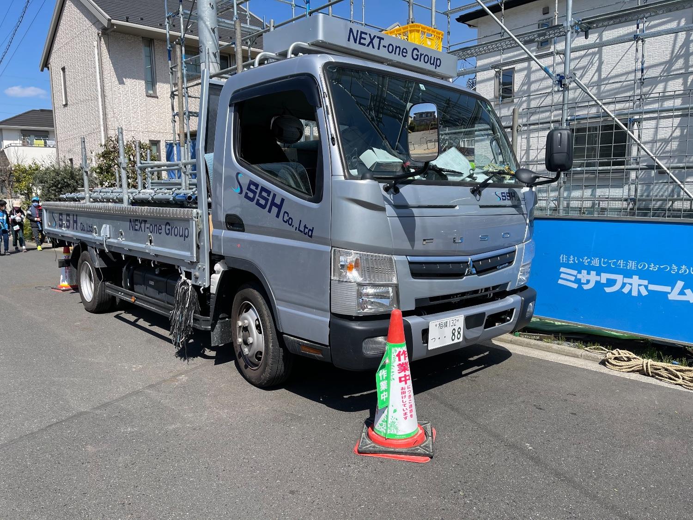 小金井市東町にて仮設工事