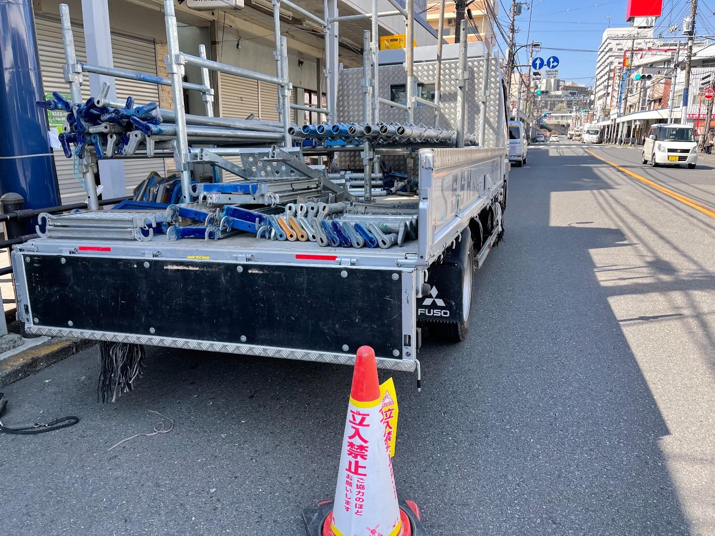 横須賀市追浜にて仮設工事