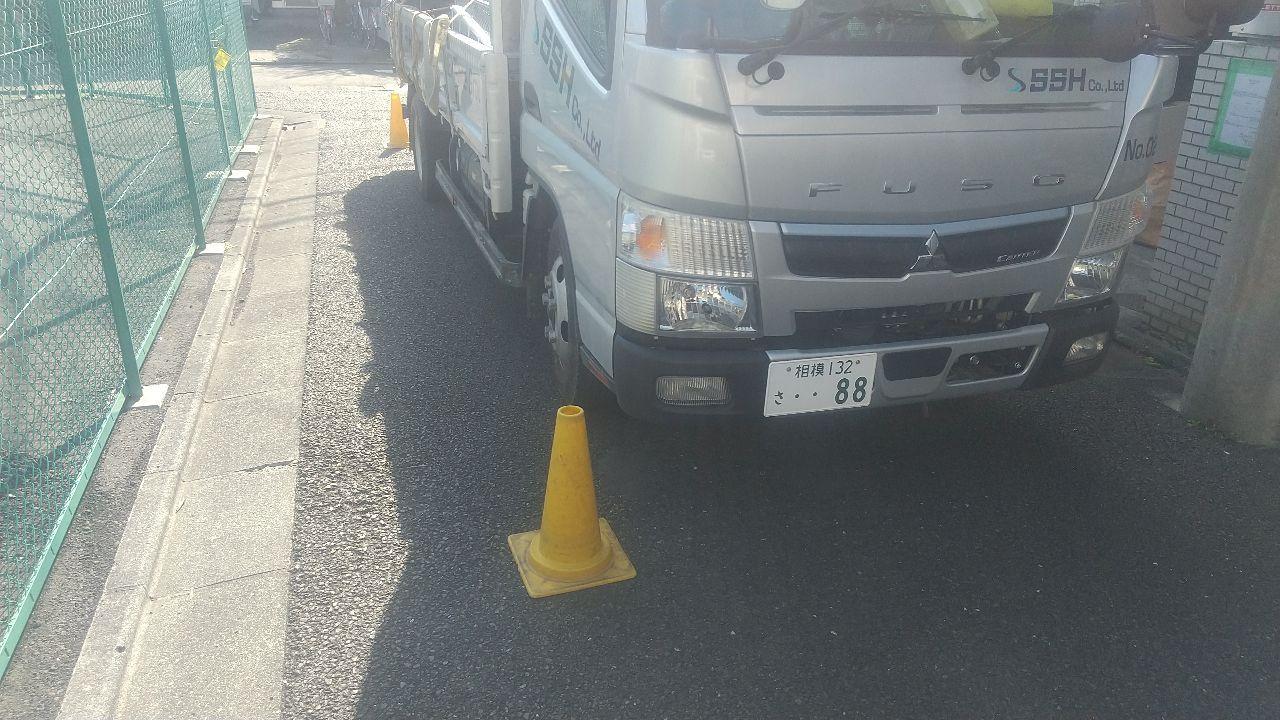 世田谷区豪徳寺にて仮設工事