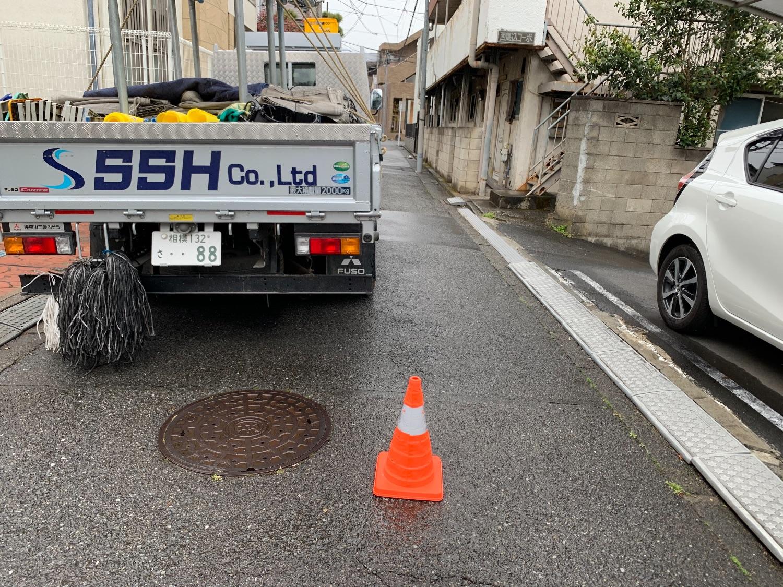 大田区西馬込にて仮設工事